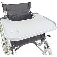 HSRG Accesorios de Mesa para bandejas de sillas de Ruedas con portavasos, bandejas universales portátiles, Aptos.