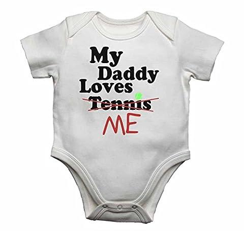 My Daddy Loves Me nicht Tennis–Baby Westen Bodys Baby wächst