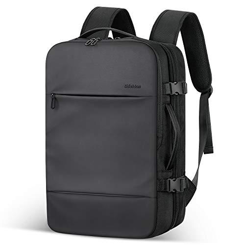SHIELDON Zaino da Viaggio per Laptop 17 Pollici, Bagaglio a Mano Antifurto Valigia Cabina Business Multi-Storage Zainetto Borsa Rucksack Daypack Impermeabile per Tablet iPad, Unisex 23-38L - Nero