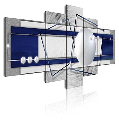DekoArte Cuadro de 5 Piezas con Diseño Abstracto con Texturas, Tela, Multicolor, 180x3x85 cm