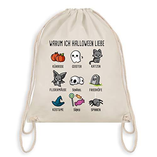Halloween - Warum ich Halloween liebe - Unisize - Naturweiß - WM110 - Turnbeutel & Gym ()