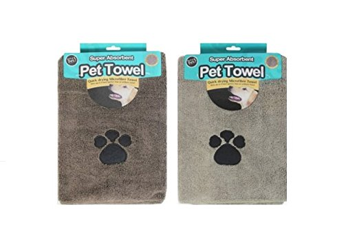 Super Saugfähig Mikrofaser-Pet Handtücher für Hunde, 2Stück