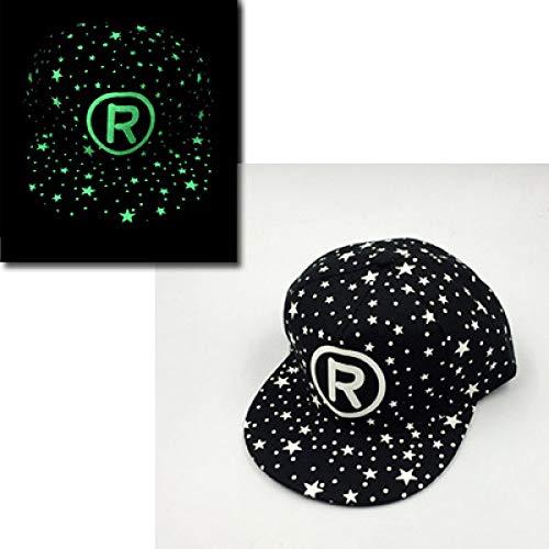 mlpnko Männliche und weibliche Fluoreszierende Kappe Paar Hip-Hop-Hut Hip-Hop-Hut leuchtende Kappe flach entlang Baseballmütze R - Entdecker Kostüm Frauen