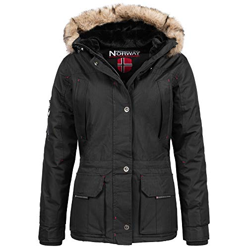 Geographical Norway Amadel Lady Winter Jacke Schwarz Gr. XXL