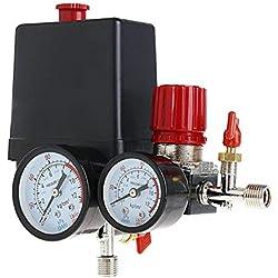 Pressostat Compresseur D'Air Valve à Contrôle 90-120PSI + Régulateur de Pression
