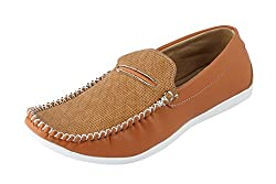 Quarks Mens Tan Suede Casual Loafers Q1085TN-9
