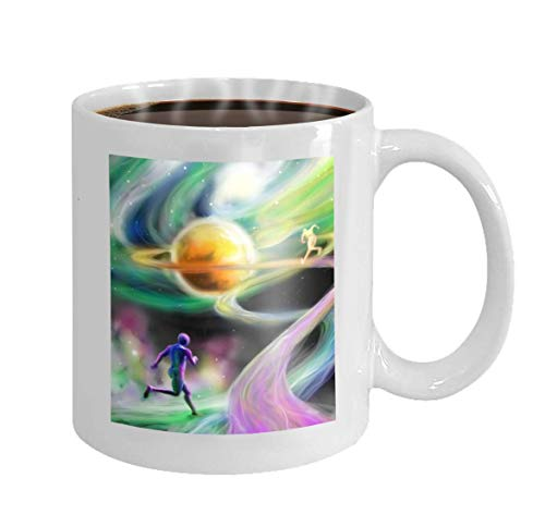 11 oz Coffee Mug Fantastic Competition time Space Stars Above Galaxies Digital Art Novelty Ceramic Gifts Tea Cup