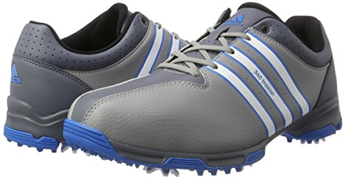 adidas Men's 360 Traxion WD Golf Shoes, Grey (Light Onix/White/Shock Blue), 7 UK 40 2/3 EU