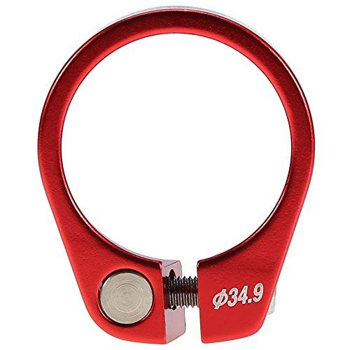 Fahrrad Sattelklemme Schnellverschluss Sattelstütze Klemme Aluminiumlegierung Passend für 30,4 / 30,8 / 31,6mm Sattelstange ( Farbe : Rot ) - Blau Klemme Sattelstütze
