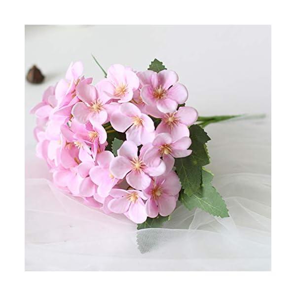 NAttnJf 1 Unid Flor Artificial Begonia Home Garden Wedding Arrangement Party Office Hoel DIY Decoración Purple