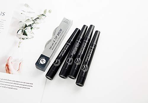 Penna per Sopracciglia con 4 Colori di Lunga Durata Impermeabile Brow Gel e Tinta Tinta Crema per Occhi Trucco
