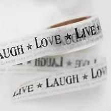 Lovely Tape–Solo–Live Laugh Love fondo testo grigio