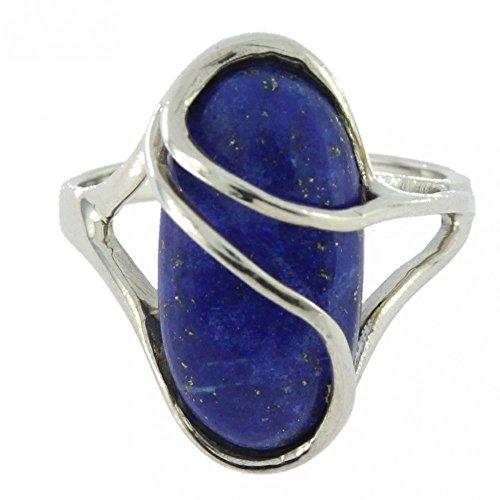 Ring mit Lapis Lazuli 34-23 - Schmuck silbern-rhodiniert aus Lapis Lazuli - Alle Größen und verschiedene Steine - ARTIPOL