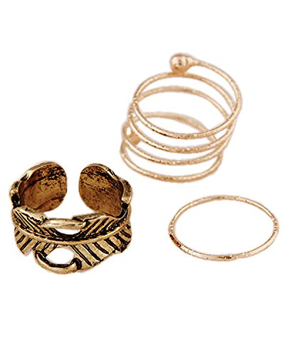 Young & Forever Retro Sculpture Antique Gold Leaf Decorated Multi-turn Loops Midi...