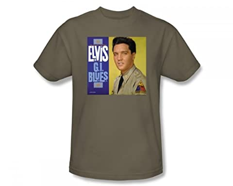 Elvis - G.I. Blues Album Adult T-Shirt In Safari Green, Medium, Safari Green