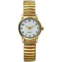 Lancardo Reloj Analógico de Movimiento Cuarzo Original Dial con Grandes  Números Árabes Pulsera Electrónica de Moda a71e3f7f1816