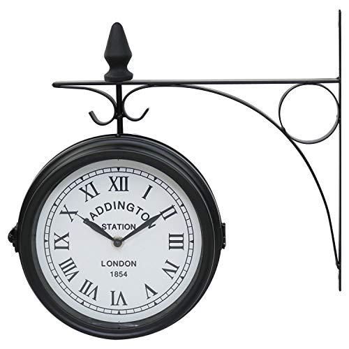Oypla double sided di paddington stazione esterna garden wall clock