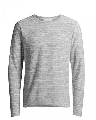 Jack & Jones Herren Sweater JCOLOPE KNIT CREW NECK Grau (Light Grey Melange)