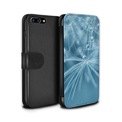 Stuff4 Coque/Etui/Housse Cuir PU Case/Cover pour Apple iPhone 7 Plus / Fleur Rose Design / Gouttes de Fées Collection Fleur Bleu