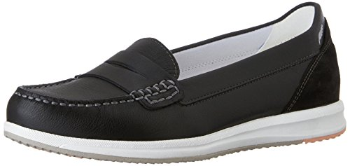 Geox D AVERY C - Mocasines Mujer, color negro