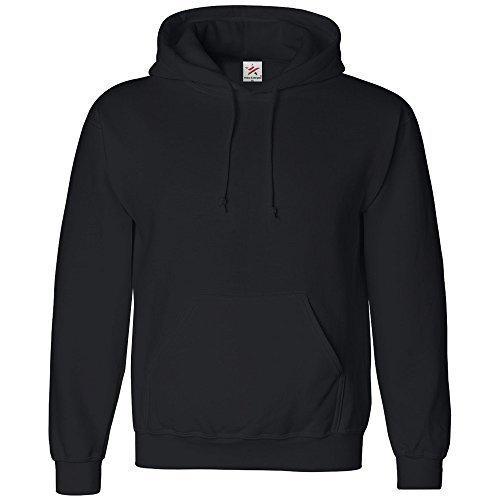 Estrella y rayas - De talla pequeña negro sudadera de estilo clásico unisex (para hombre y para mujer) con capucha