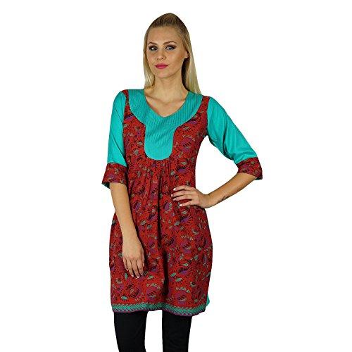 Bimba Coton s Tunique Summer Wear Vêtements décontractés Avec manches 3/4 Multicolore