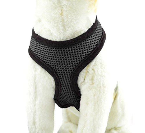 YiJee Animale Costumi Regolabile Cani Animali Cane Dog Harness Pettorina Gilet Nero S