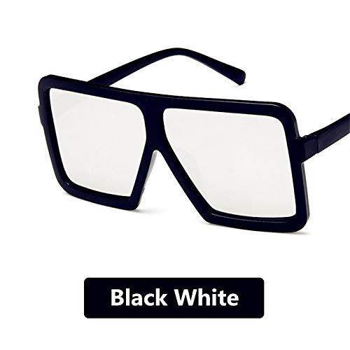 Yuhangh occhiali da sole big box uomo e donna hip hop wild occhiali da sole grandi personalità occhiali da sole polarizzati rossi netti