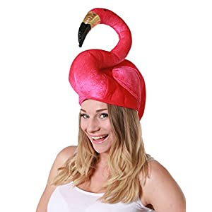 Gorro-con-forma-de-flamenco-accesorio-para-disfraz-tamao-grande-color-rosa