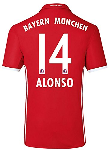 Trikot Adidas FC Bayern München 2016-2017 Home (Alonso 14, XXL) -