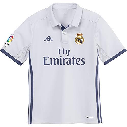 adidas Real Madrid H Jsy Y - Camiseta Real Madrid 2016/2017 para Niños, Multicolor(Blanco / Morado), 15-16 años