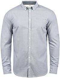 Blend Fill Camisa De Manga Larga con Botones En El Cuello De 100% Algodón ClE3w