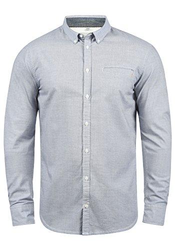 Blend Fill Herren Freizeithemd Hemd Mit Button-Down-Kragen Aus 100% Baumwolle, Größe:L, Farbe:Mood Indigo (74648) -