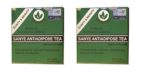 2 x SANYE ANTI - ADIPOSE TEA ; Detoxifying Laxative, Fast Weight Loss - 60 bags