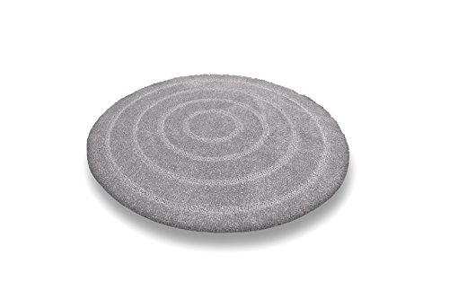 Tapis de bain – tapis de bain – tapis design tailles et couleurs Choix cemberl Itas (Gris clair, rond) 80 cm