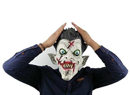 LXIANGP Scary Zombie Vollen Kopf Maske Maske Karneval Halloween Spuk Haus Grimasse Clown Maske