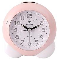 ساعة منبه من دوجانا - زهري و ابيض  -DA103
