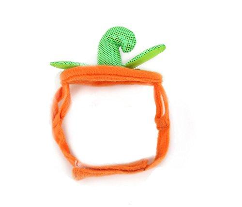 Hacoly Haustier Kostüm Kleidung Kürbis Topper Hunde Hut Katze Party Kappe Karneval mit Ohren Zubehör Kopfbedeckung Hut für Cosplay Weihnachten Halloween - Orange