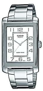 Casio - MTP-1234PD-7BEF - Collection - Montre Homme - Quartz Analogique - Cadran Blanc - Bracelet Acier Argent