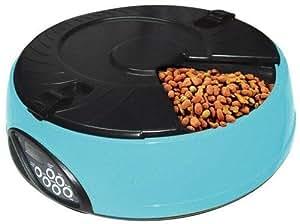 esky distributeur de croquettes automatique et programmable 6 compartiments pet feeder pour. Black Bedroom Furniture Sets. Home Design Ideas