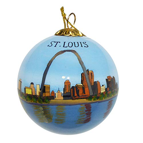 Unbekannt Art Studio Company Christbaumschmuck aus Glas, handbemalt, Motiv: St. Louis Missouri Skyline Gateway