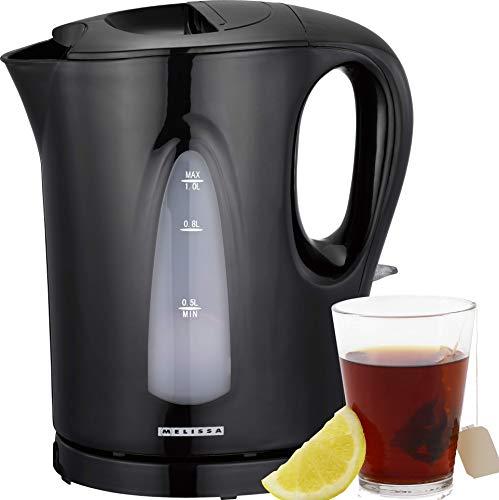 Melissa 16130286 Wasserkocher 1,00 Liter 1200 Watt Überhitzungsschutz schwarz