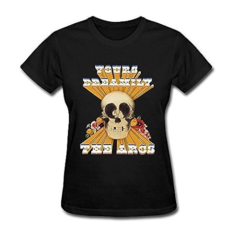 sneakeye Women's The Arcs Yours Dreamily Logo T-shirt Black Tee