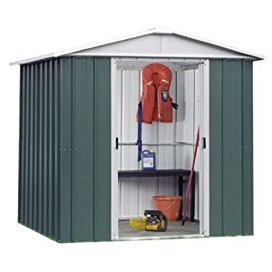 "418g32XyePL. SS300  - Belfast 6'1"" x 6'10"" GEYZ Apex Metal Shed With FREE Anchor Kit"