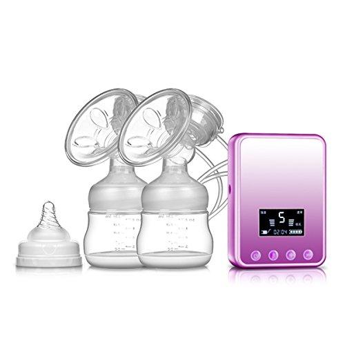 VOSMEP Elektrische Brustpumpe, USB BPA-frei &100% Lebensmittelqualität Doppelmilchpumpe, Massage & Prolaktin Modus SH046
