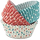 UG Land India Baking Greaseproof Muffins Round Paper Cups Cake Microvave Or Oven Trey Safe in (Multicolour) Pack of 100 with
