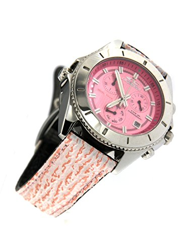 Chronotech Clock Dual Face Chronograph and only time with Dual Face Black Strap and Pink Limited Edition