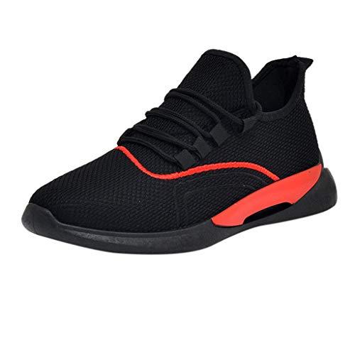 ALIKEEY Scarpe da Corsa Comode E Traspiranti per Gli Uomini Sportive Leggere Sneakers Anti-Increspature Selvagge Estive Casual Piatte Ginnastica Fitness Running Basse Interior All'Aperto