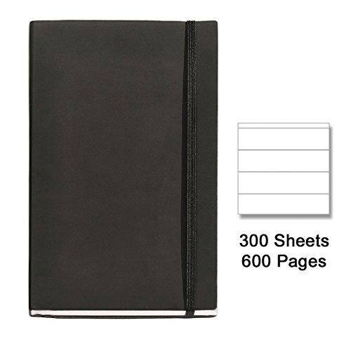 basicos-herr-10404-flexible-haut-notebook-4-300-blatt-horizontal-mit-gummi-schwarz