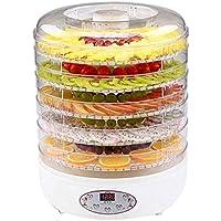 WLJHGJ Deshidratador de Frutas, Bandeja elevadora de Alimentos Temperatura Ajustable Secador de 35 a 70 ° C para Frutas Frescas y secas Rejilla de 5 Capas Secadora de Frutas casera pequeña